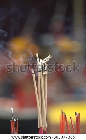Incense sticks of thailand - stock photo