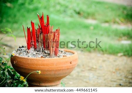 Incenses burner - stock photo