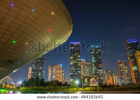 INCHEON, SOUTH KOREA - SEPTEMBER 14 : Songdo Central Park September 14,2016 in Incheon, South Korea.
