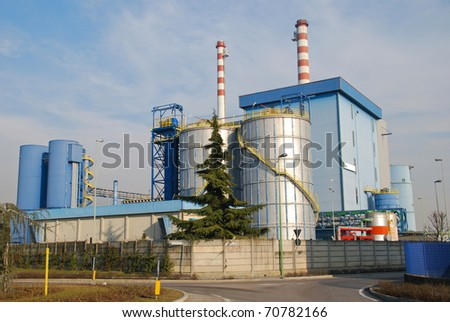Incineration plant in Lombardy - Italy - stock photo