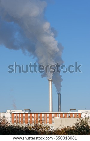 incinerator chimney in Paris suburb