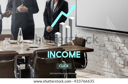 Income Assets Banking Economy Financial Money Concept - stock photo