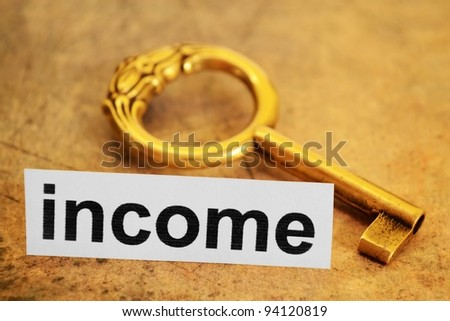 Income concept - stock photo
