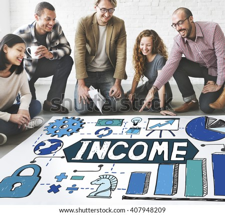 Income Payment Money Profit Salary Concept - stock photo