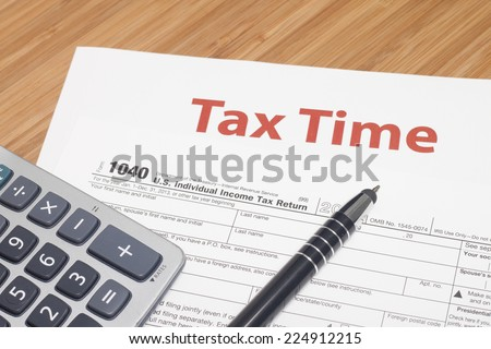 Income Taxes - stock photo