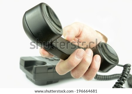 Incoming call for you. - stock photo