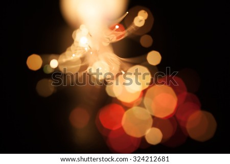 Incoming light through fiber optics, abstract background. Soft focus, bokeh background. Intentionally shot with lens flares. - stock photo
