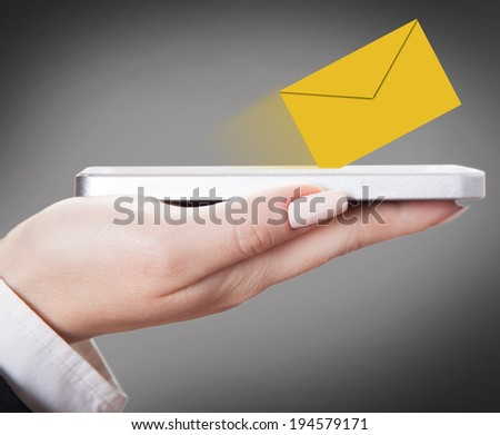 incoming messages are, creative background - stock photo