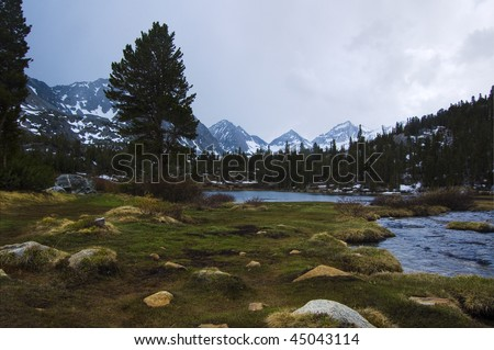 Incoming Storm, Heart Lake - stock photo
