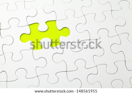 Incomplete Puzzle  - stock photo