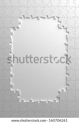Incomplete Puzzle - stock photo
