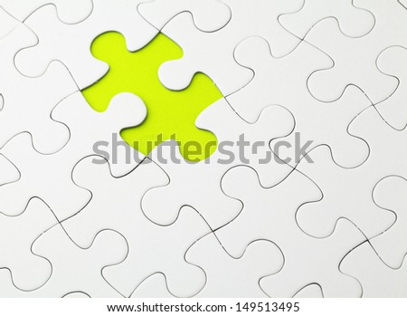 Incomplete Puzzle in green color