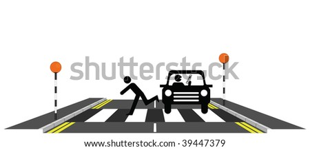Inconsiderate motorist using mobile phone whilst driving - stock photo