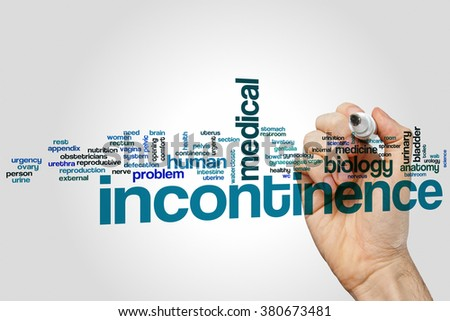 Incontinence word cloud concept - stock photo
