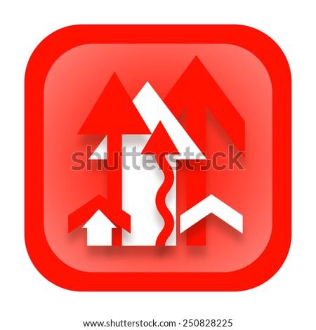 Increase arrow business icon - stock photo