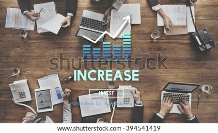 Increase Enlarge Expand Extend Growth Rise Concept - stock photo