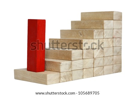 increase growth career business concept with stairs - stock photo