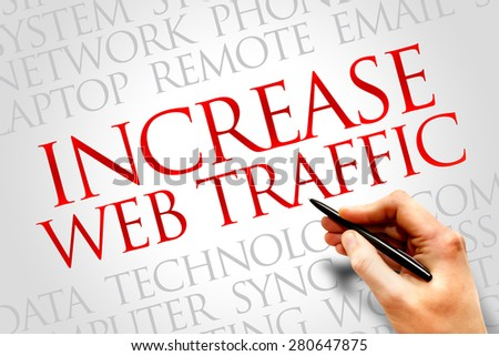 Increase web traffic word cloud concept - stock photo