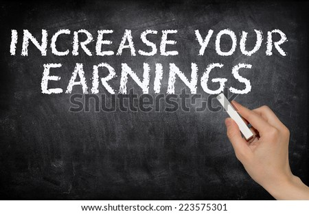 Increase your earnings - stock photo