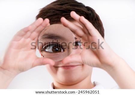 increased eye - stock photo