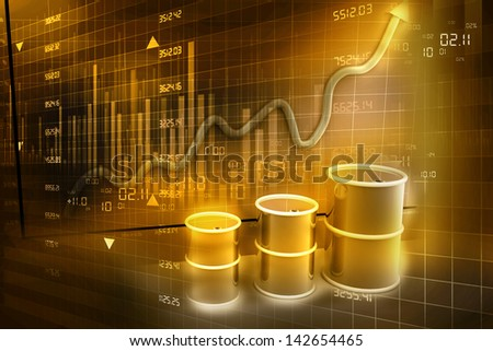 Increasing price of oil concept. Abstract background - stock photo
