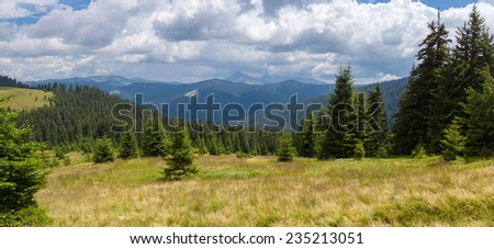 Incredibly beautiful panoramic views of the Carpathian Mountains