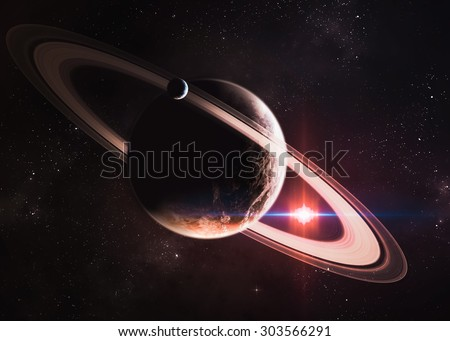 Incredibly beautiful space. Elements of this image furnished by NASA - stock photo