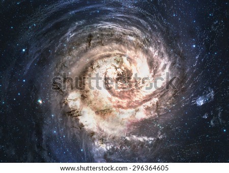 Incredibly beautiful spiral galaxy somewhere in deep space. Elements of this image furnished by Nasa - stock photo