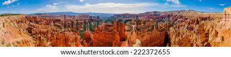 increible view of bryce canyon national park utah panorama - stock photo