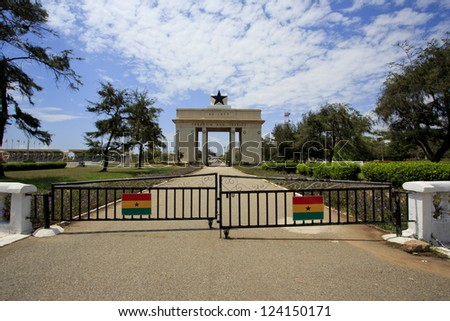 Independence Arch in Accra - stock photo