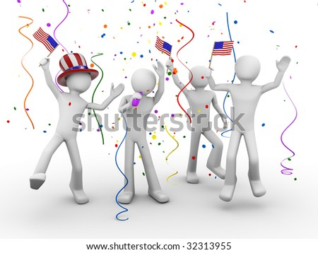 Independence celebration - stock photo