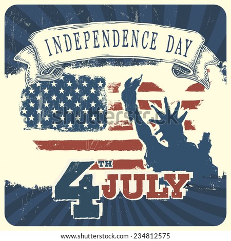Independence day background. Raster version - stock photo