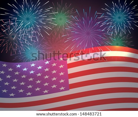 independence day background.(vector version also available in my gallery) - stock photo