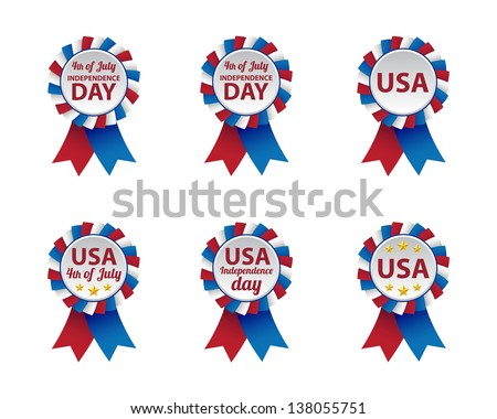 Independence day badges. Vector available. - stock photo
