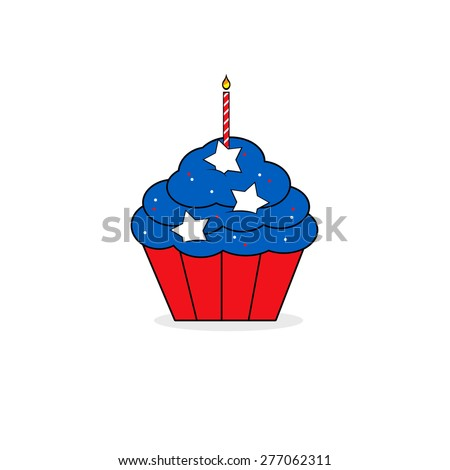 Independence Day Cupcake - stock photo