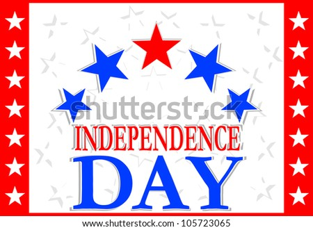 Independence Day Design. Raster - stock photo
