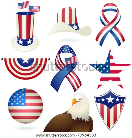 Independence Day holiday design objects