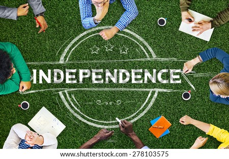 Independence Liberty Peace Self Control Concept - stock photo