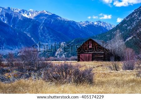 independence Pass, originally known as Hunter Pass, is a high mountain pass in the Rocky Mountains of central Colorado in the United States - stock photo