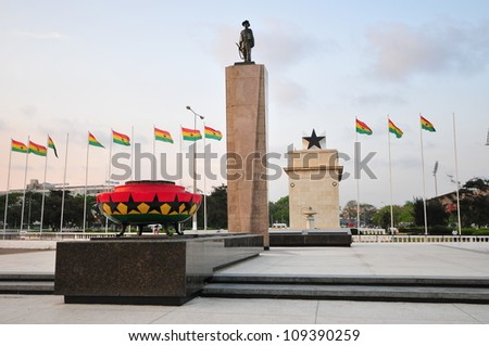 Independence Square, Ghana Public square in Ghana which contains moments to the independence of Ghana, including the Independence Arch - stock photo