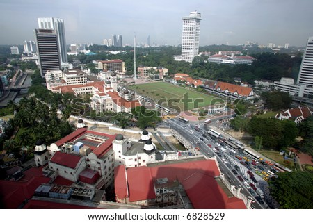 Independence Square or Dataran Merdeka, 2004. - stock photo