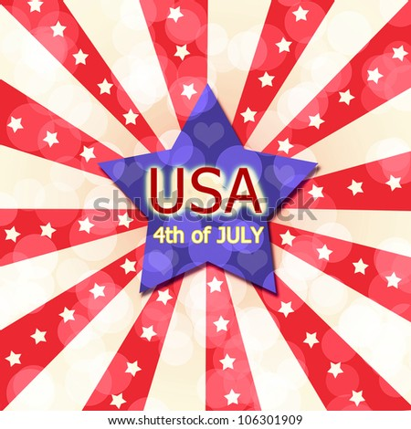 Independent day United States of America - stock photo