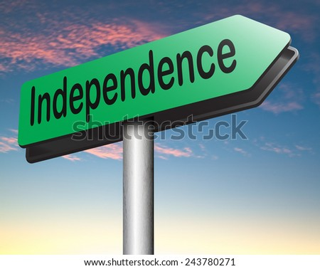 independent life live free and in independence no interference self employed - stock photo