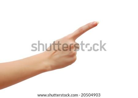 Index finger isolated on white background - stock photo