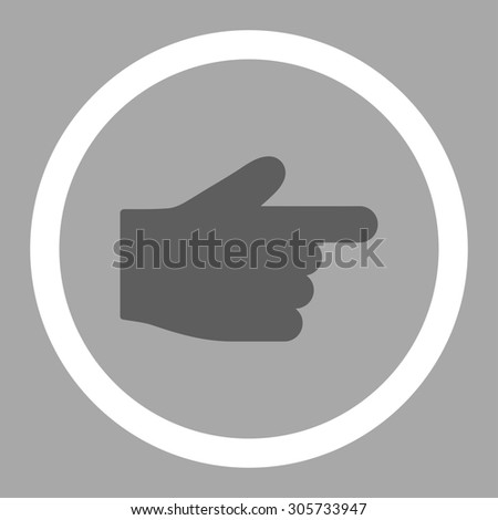 Index Finger Raster Icon This Rounded Stock Illustration 305733947