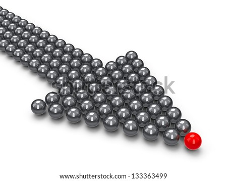 Index made of balls, three-dimensional rendering - stock photo