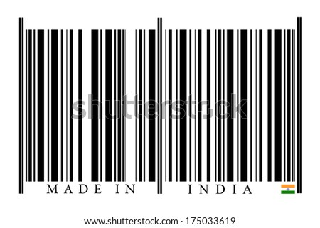 India Barcode on white background