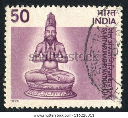 INDIA - CIRCA 1975: stamp printed by India, shows Arunagirinathar, circa 1975