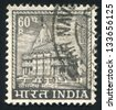 INDIA - CIRCA 1965: stamp printed by India, shows Somnath Temple, circa 1965 - stock photo
