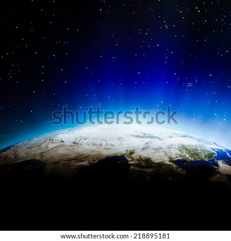 India clouds. Elements of this image furnished by NASA - stock photo
